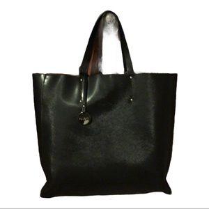 NWOT black Pulicati leather tote large